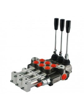 Hydraulic valve 1 spool 40 l/min 11 GPM controlled pneumatically